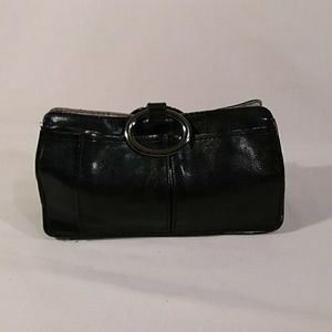 Pouchee Clutch Small Black Leather